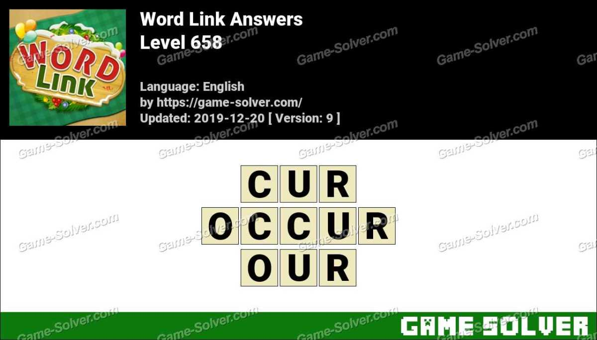 Word Link Level 658 Answers