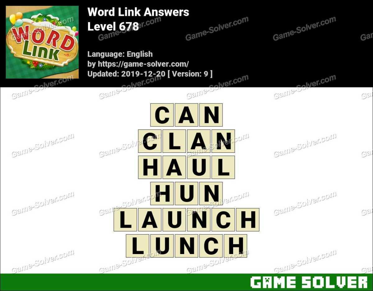 Word Link Level 678 Answers