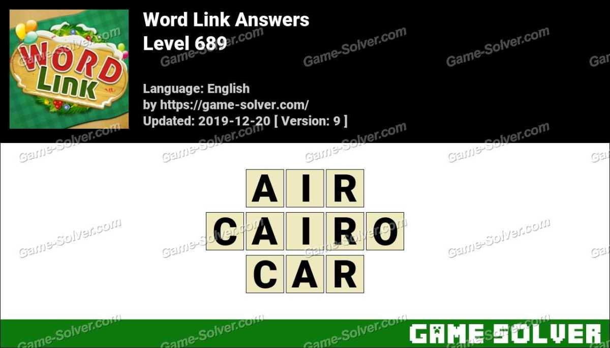 Word Link Level 689 Answers