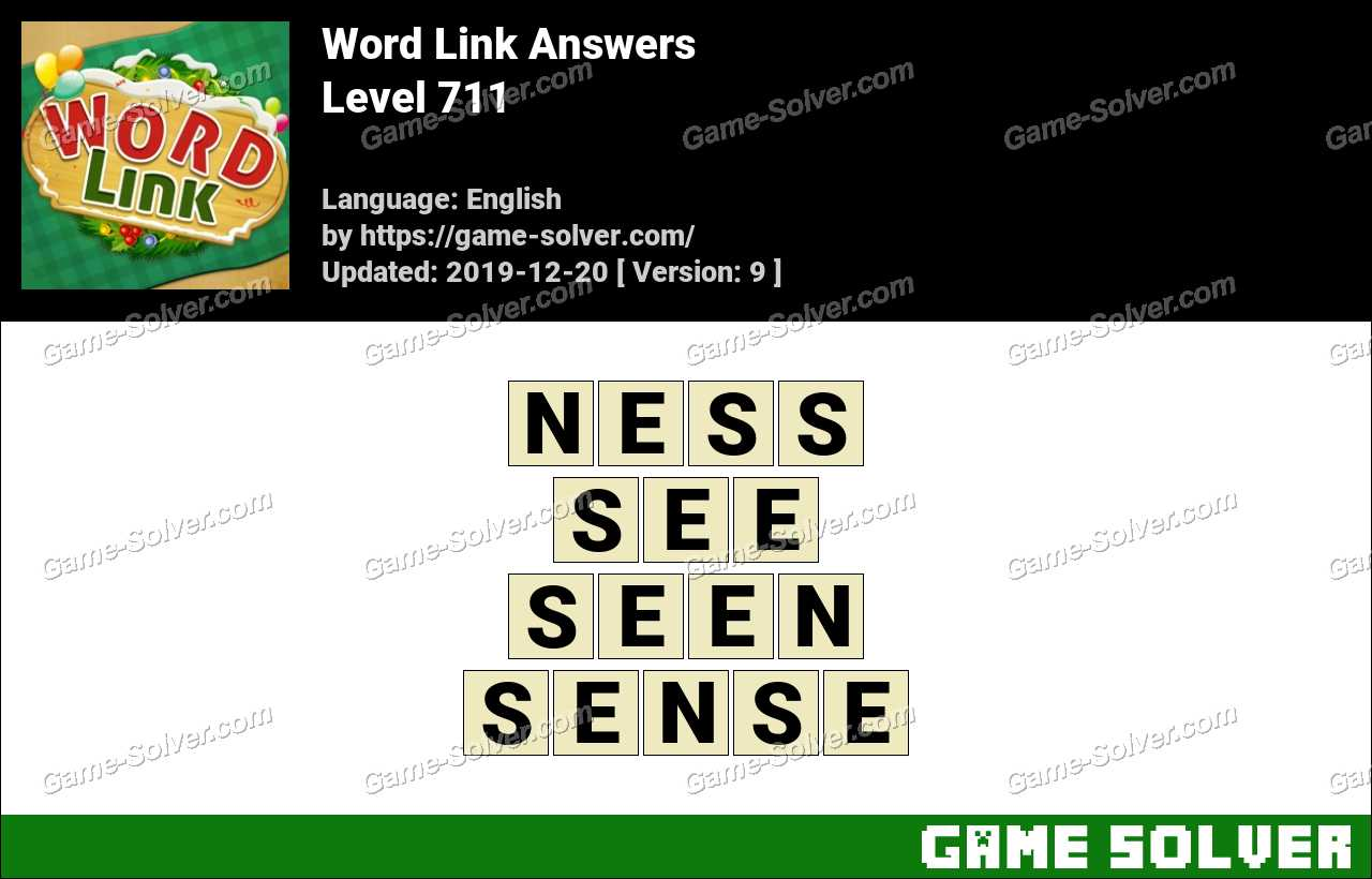 Word Link Level 711 Answers