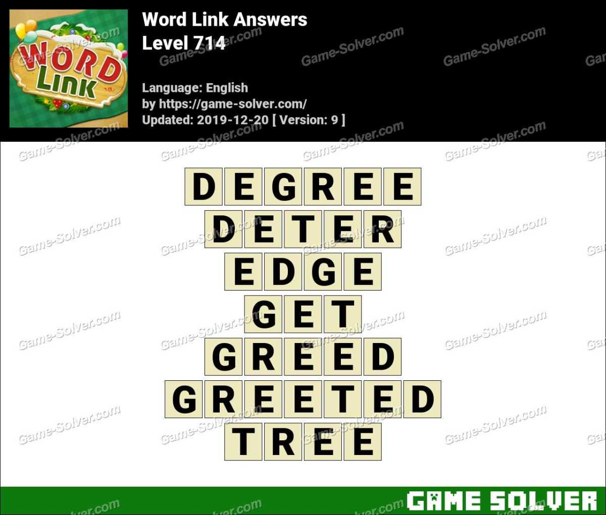 Word Link Level 714 Answers