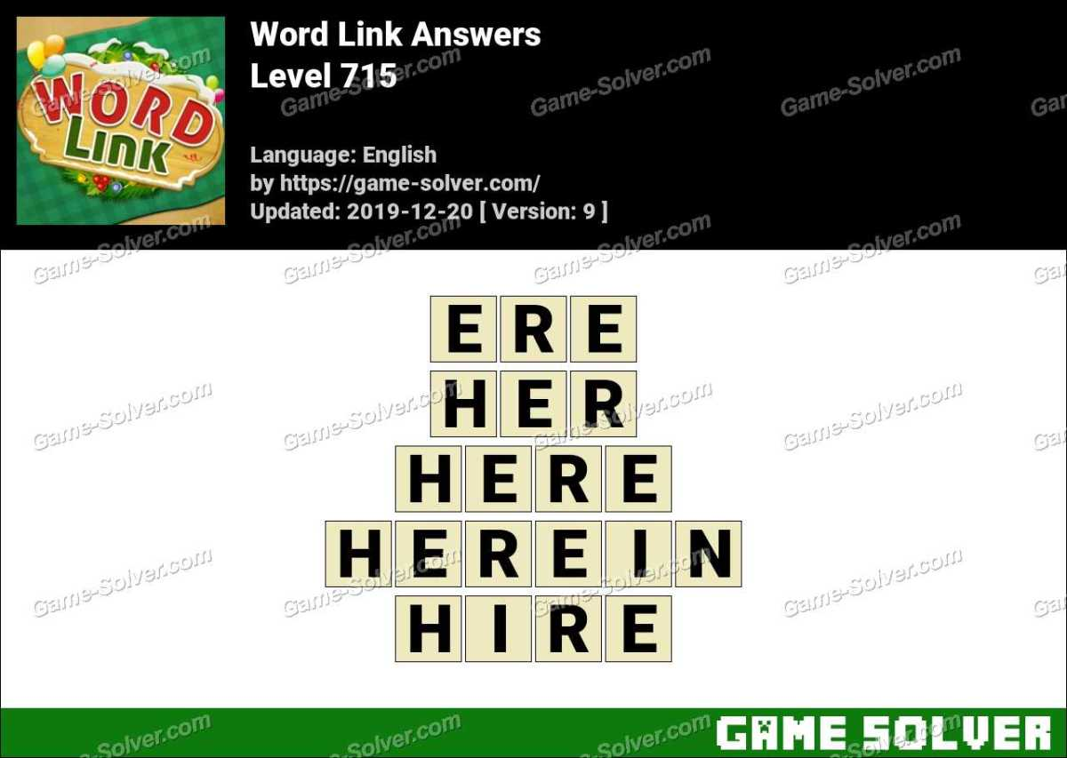 Word Link Level 715 Answers