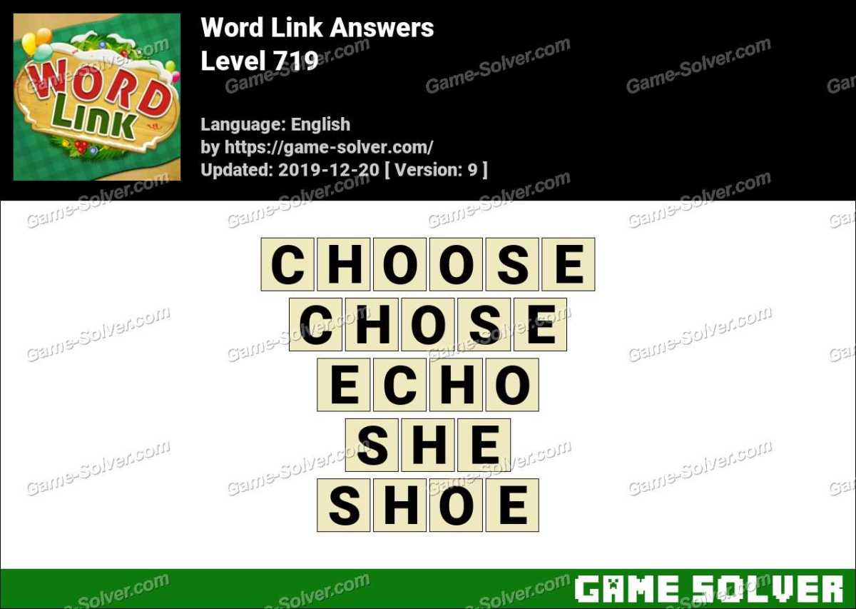 Word Link Level 719 Answers