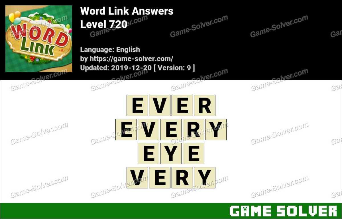 Word Link Level 720 Answers