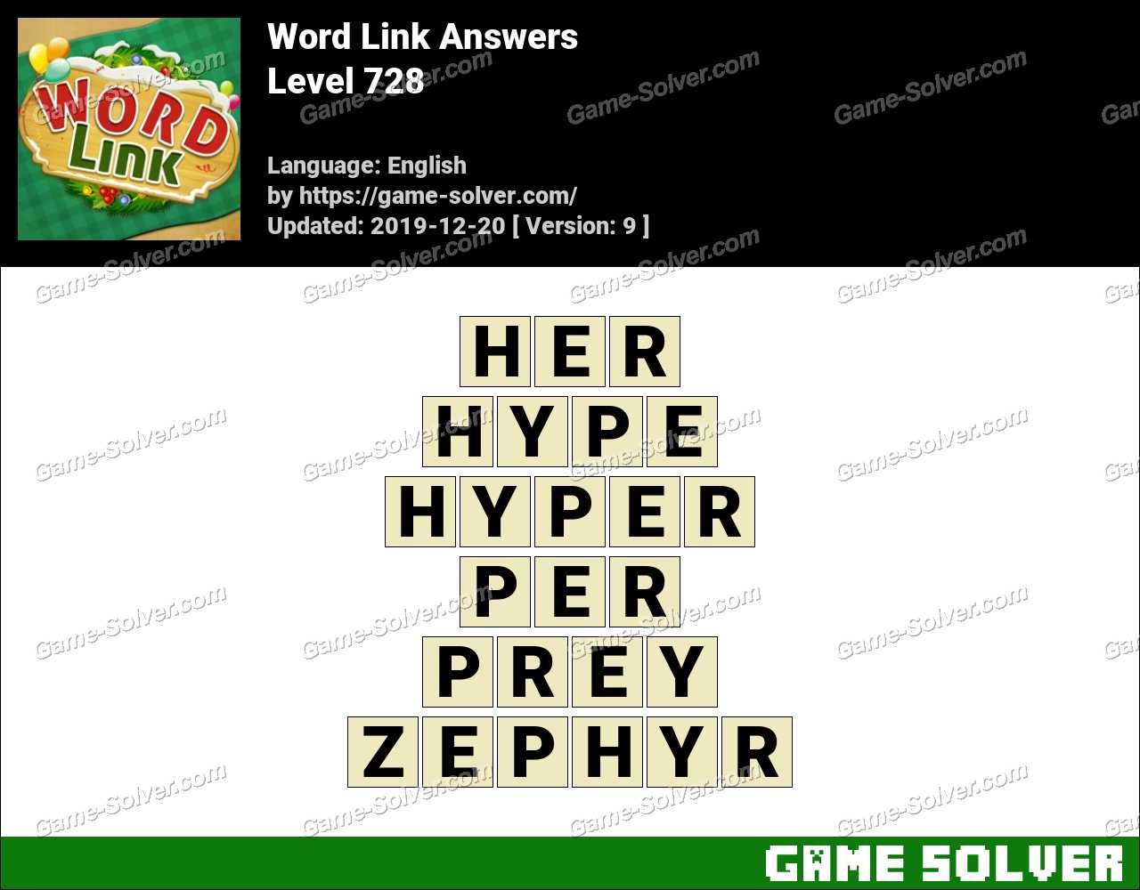 Word Link Level 728 Answers