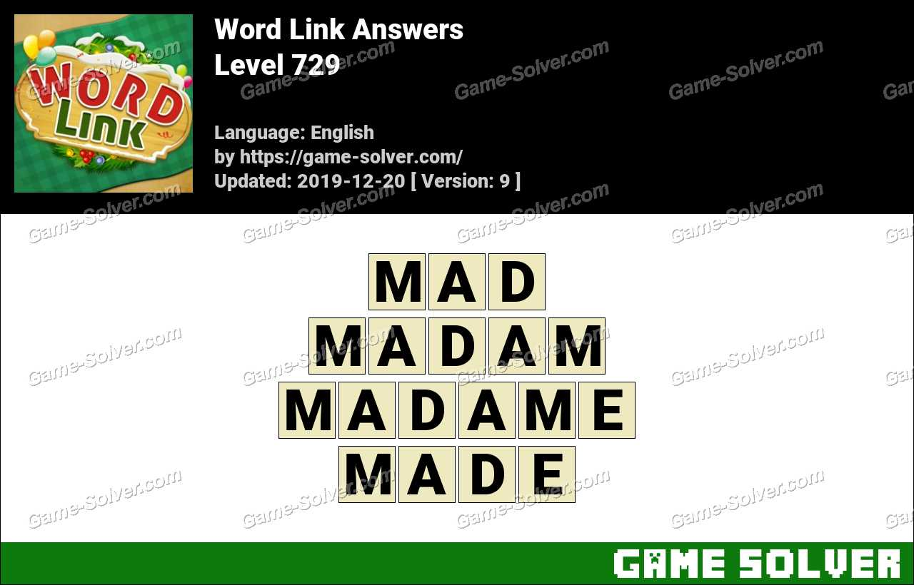 Word Link Level 729 Answers