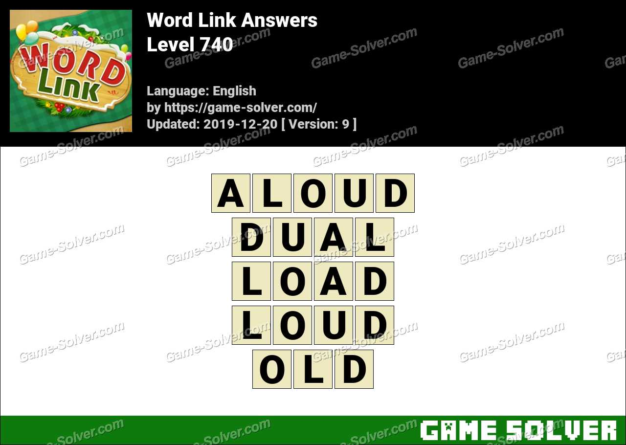 Word Link Level 740 Answers