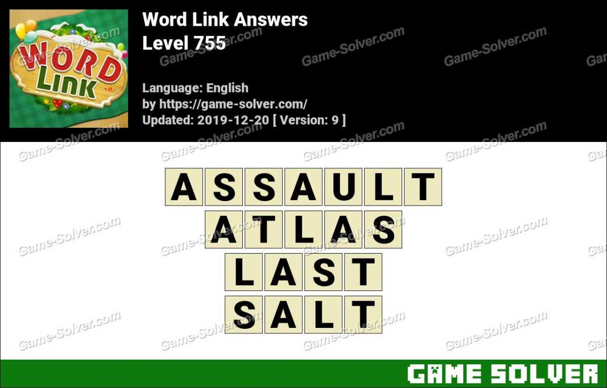 Word Link Level 755 Answers