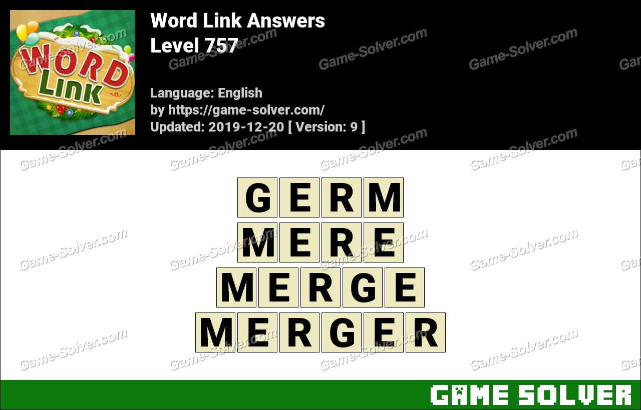 Word Link Level 757 Answers