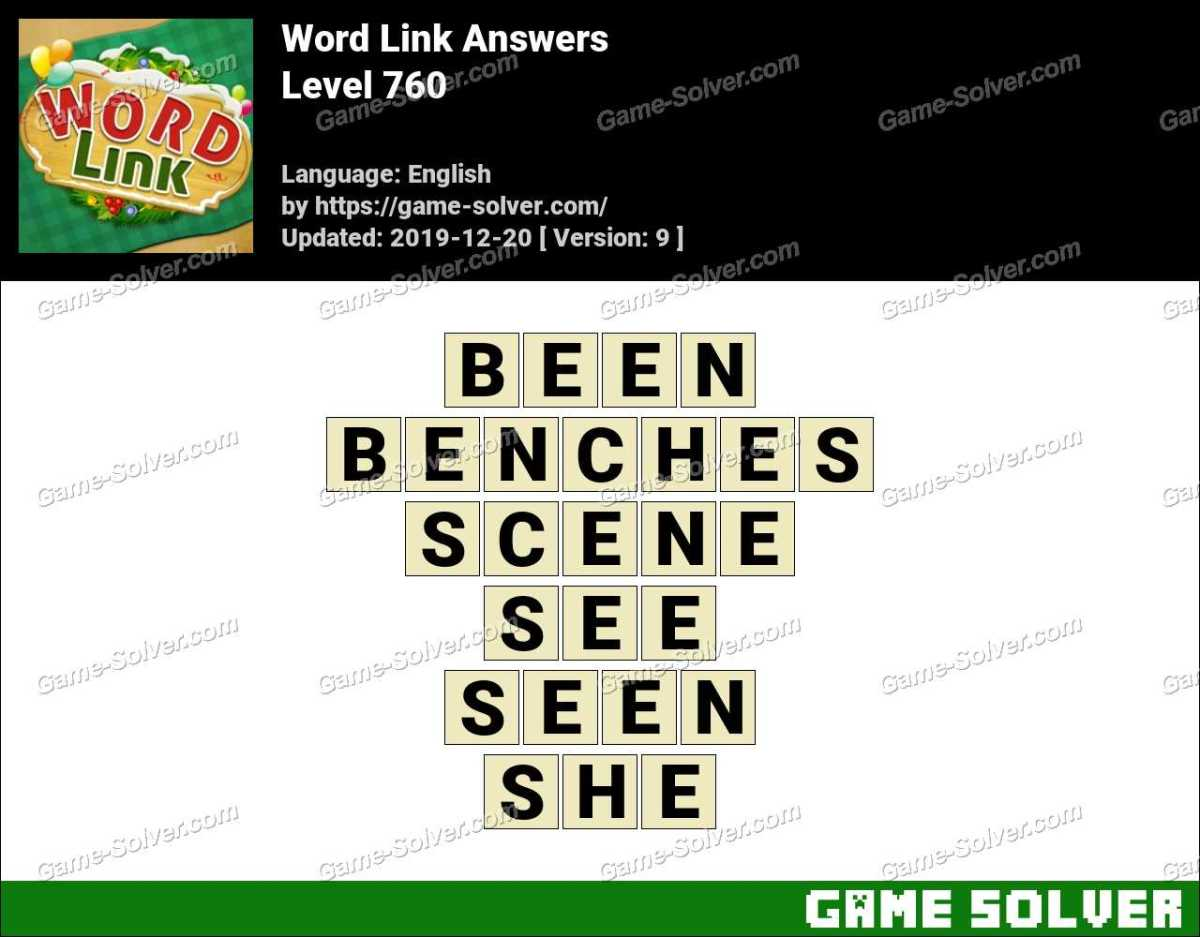 Word Link Level 760 Answers