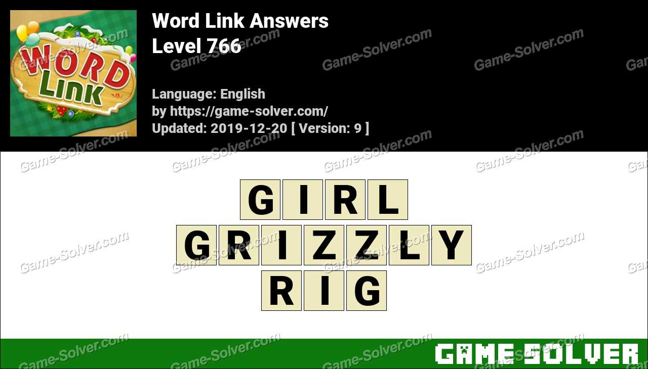 Word Link Level 766 Answers