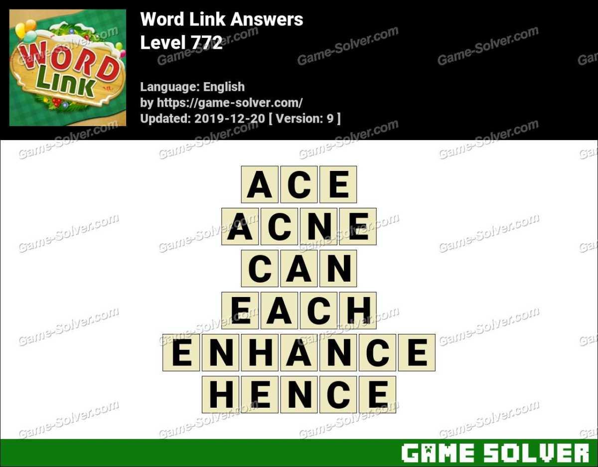 Word Link Level 772 Answers