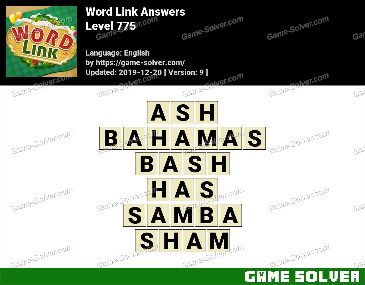 Word Link Level 775 Answers