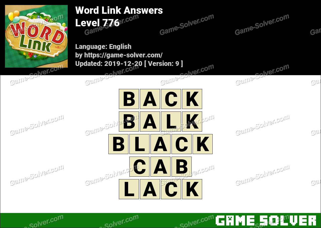 Word Link Level 776 Answers