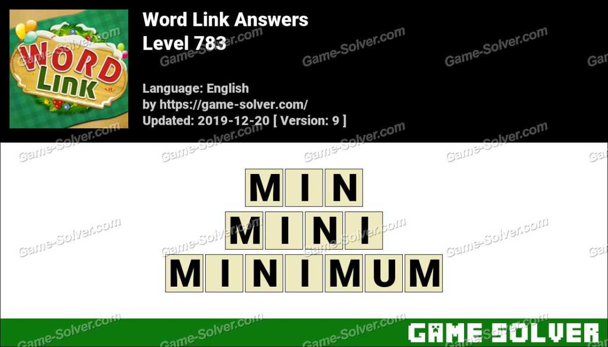 Word Link Level 783 Answers