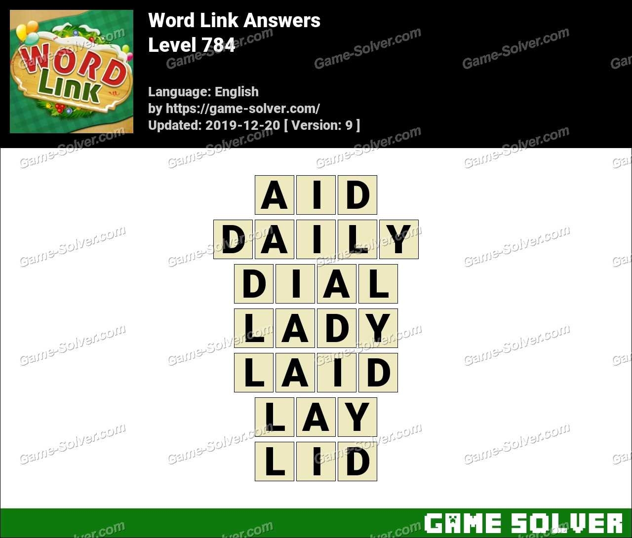 Word Link Level 784 Answers