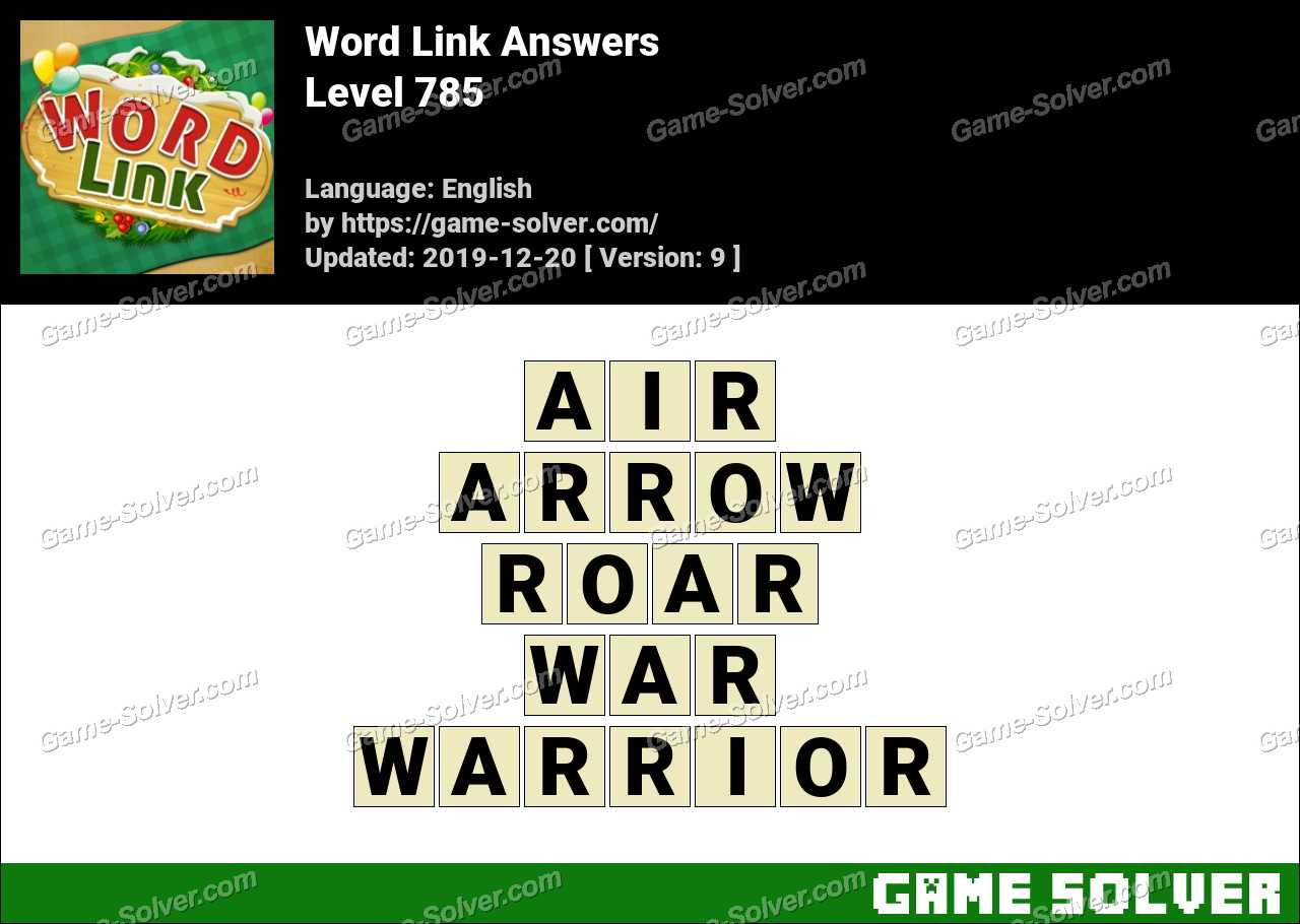 Word Link Level 785 Answers