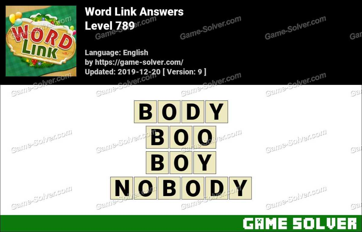Word Link Level 789 Answers