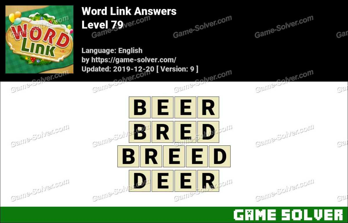 Word Link Level 79 Answers