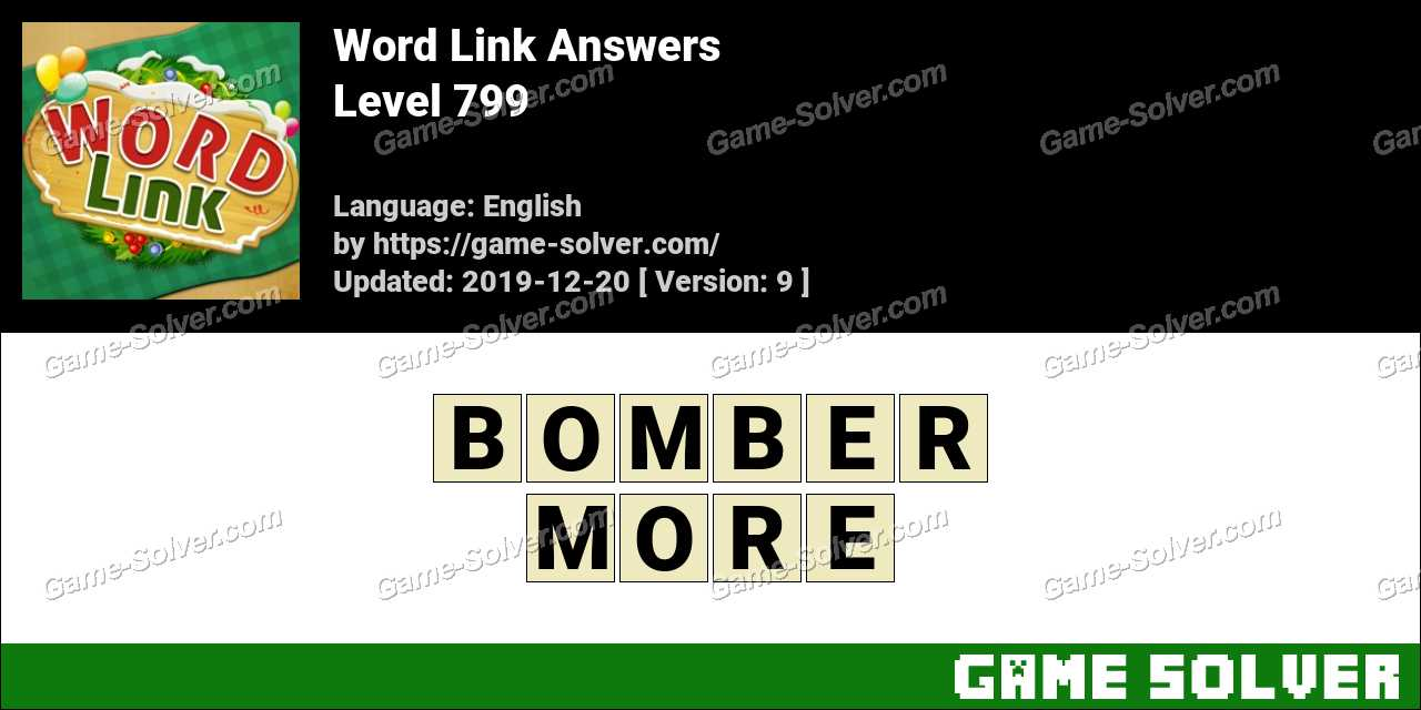 Word Link Level 799 Answers