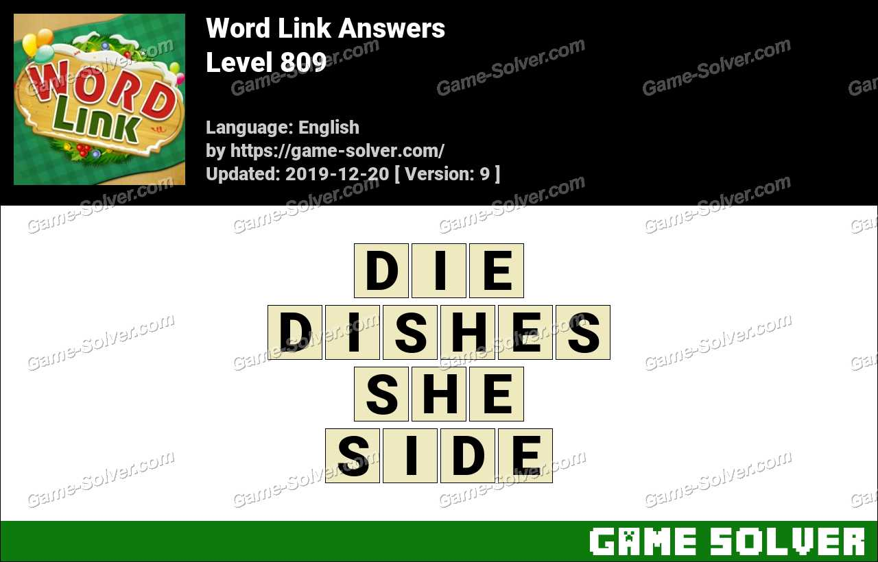 Word Link Level 809 Answers