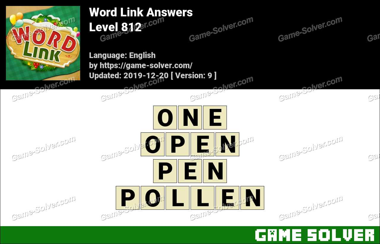 Word Link Level 812 Answers