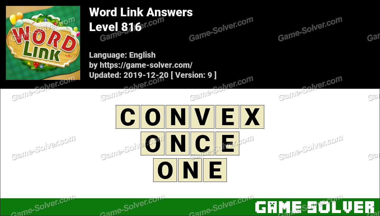 Word Link Level 816 Answers