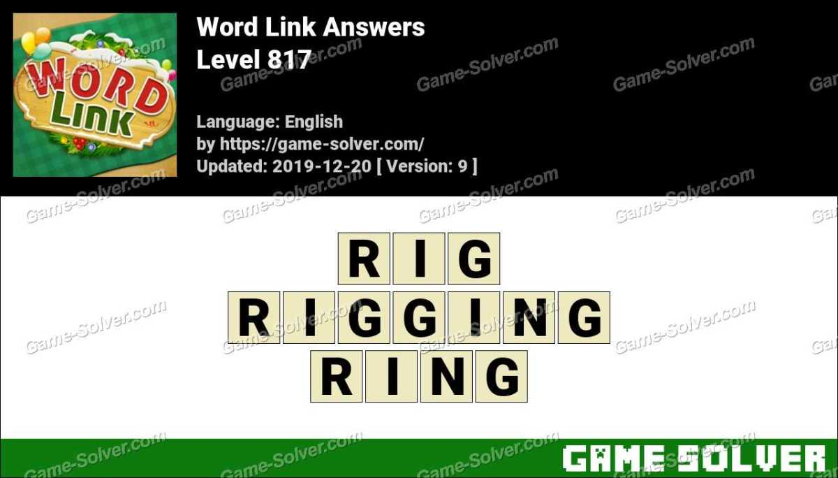 Word Link Level 817 Answers