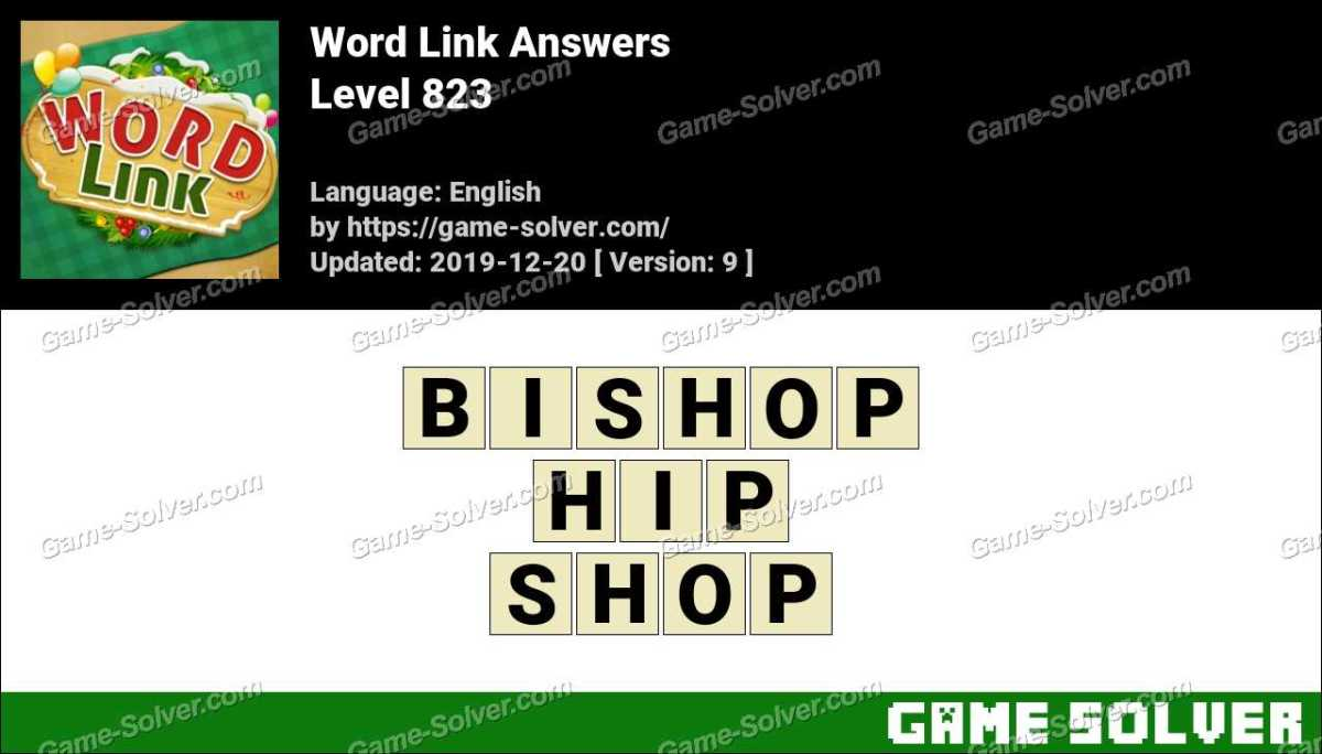 Word Link Level 823 Answers