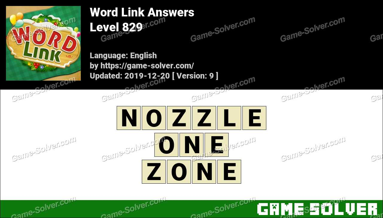 Word Link Level 829 Answers