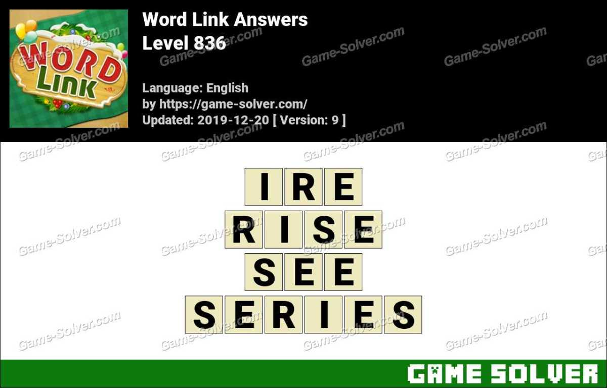 Word Link Level 836 Answers