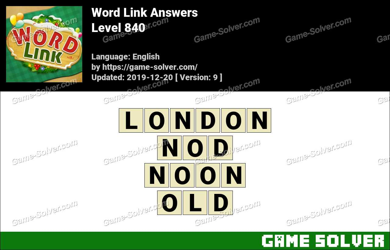 Word Link Level 840 Answers