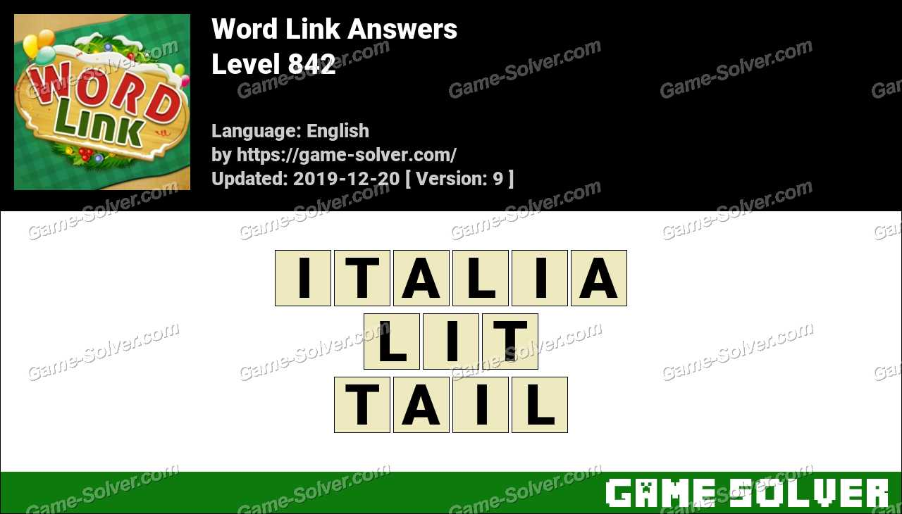 Word Link Level 842 Answers
