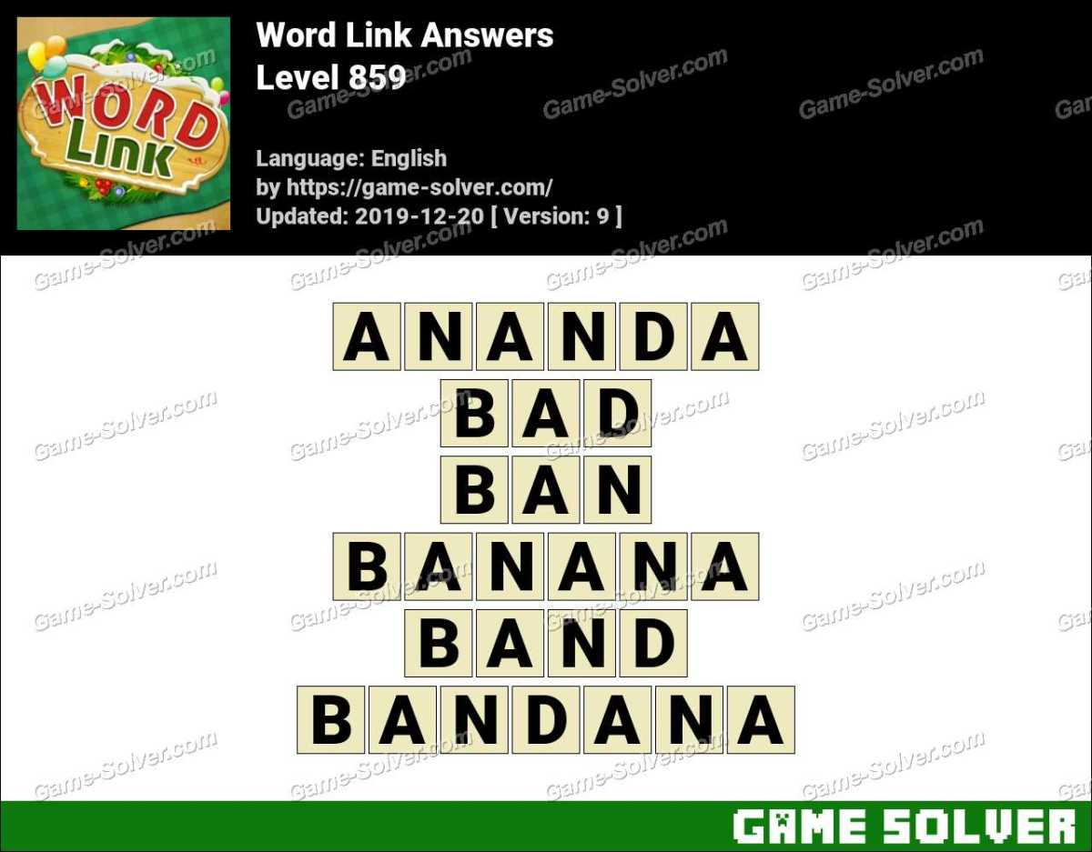 Word Link Level 859 Answers