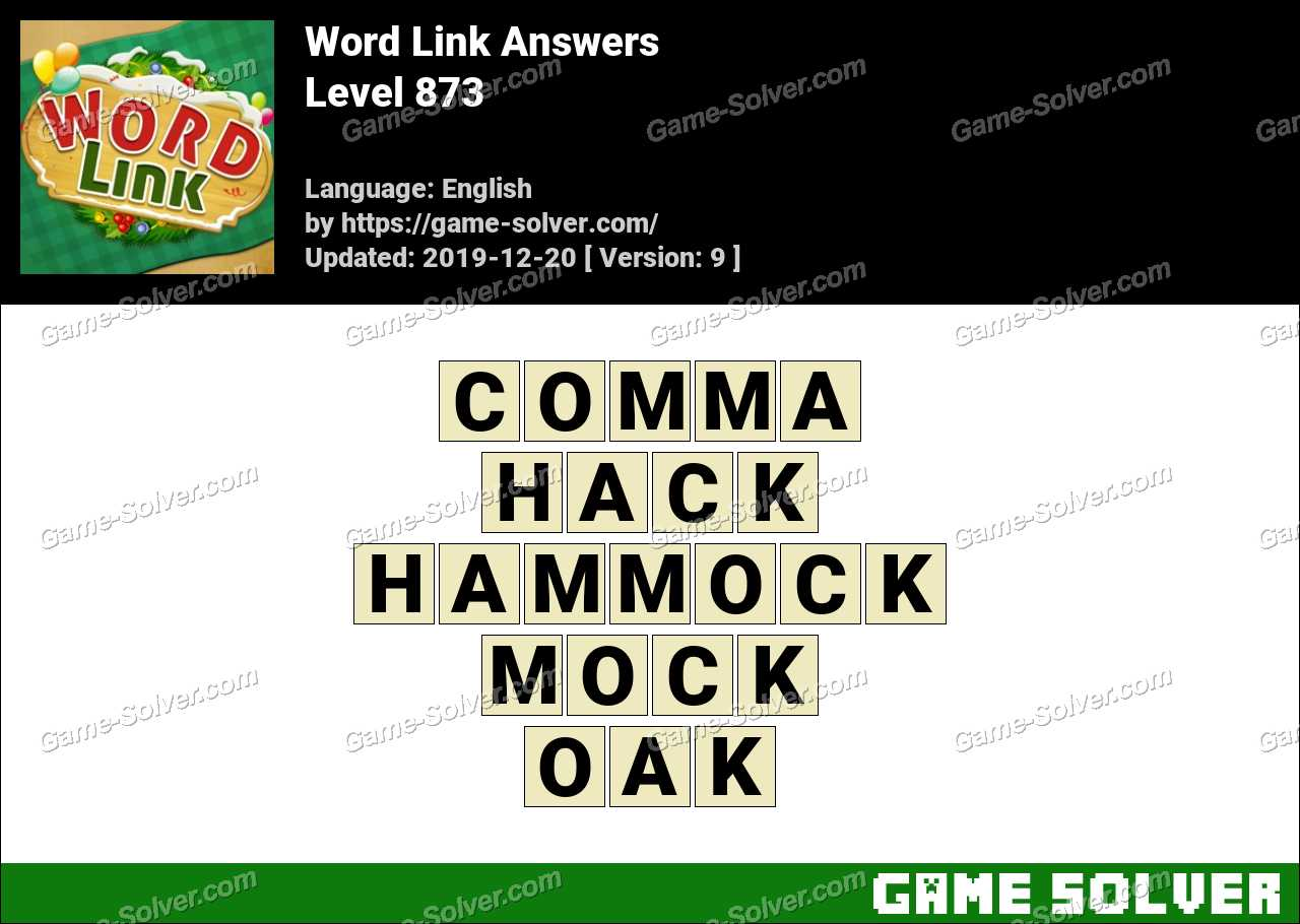 Word Link Level 873 Answers