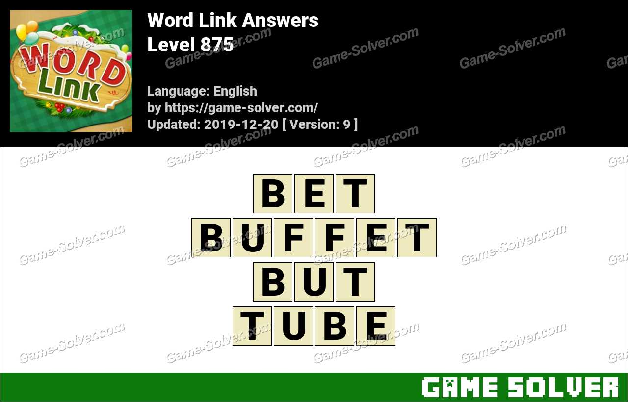 Word Link Level 875 Answers