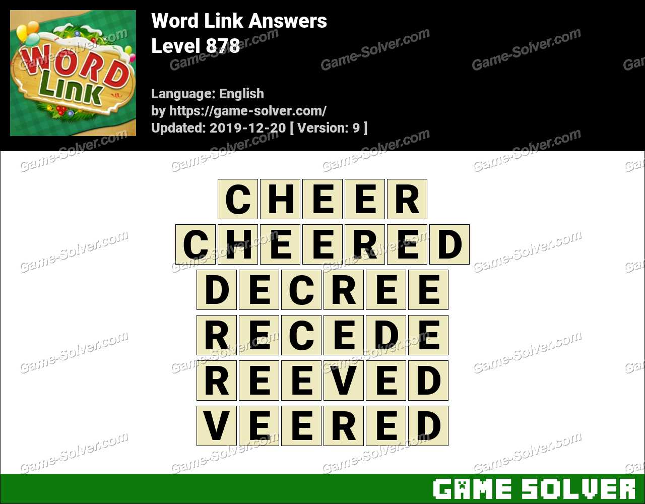 Word Link Level 878 Answers