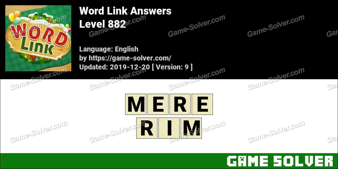 Word Link Level 882 Answers