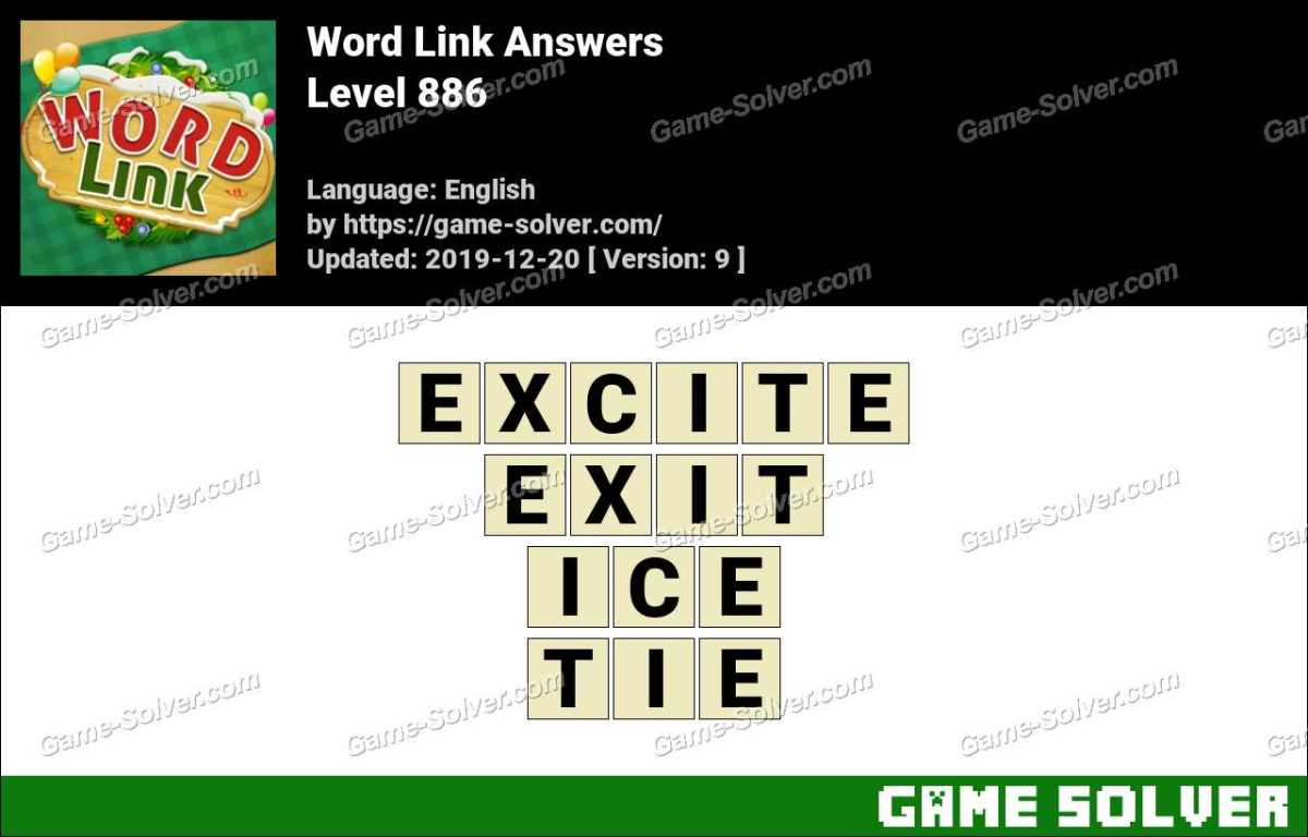 Word Link Level 886 Answers