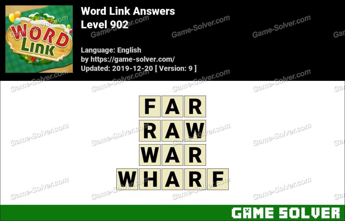 Word Link Level 902 Answers