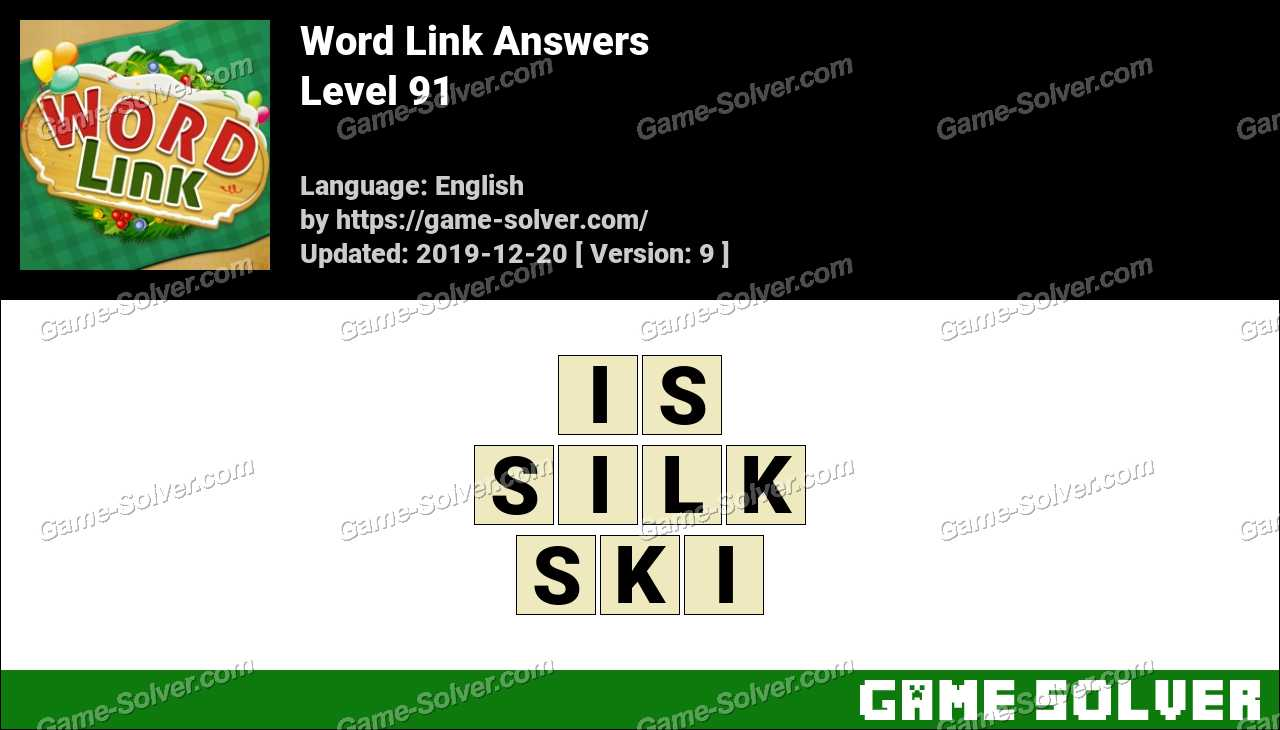 Word Link Level 91 Answers