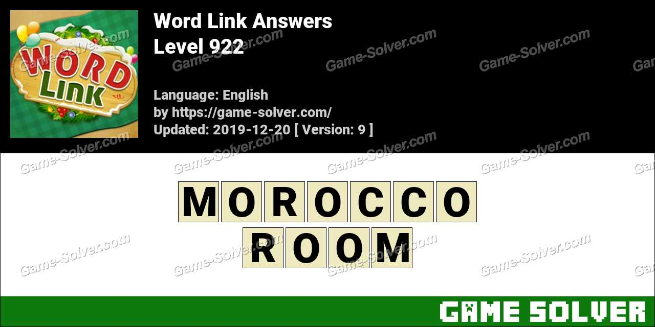Word Link Level 922 Answers