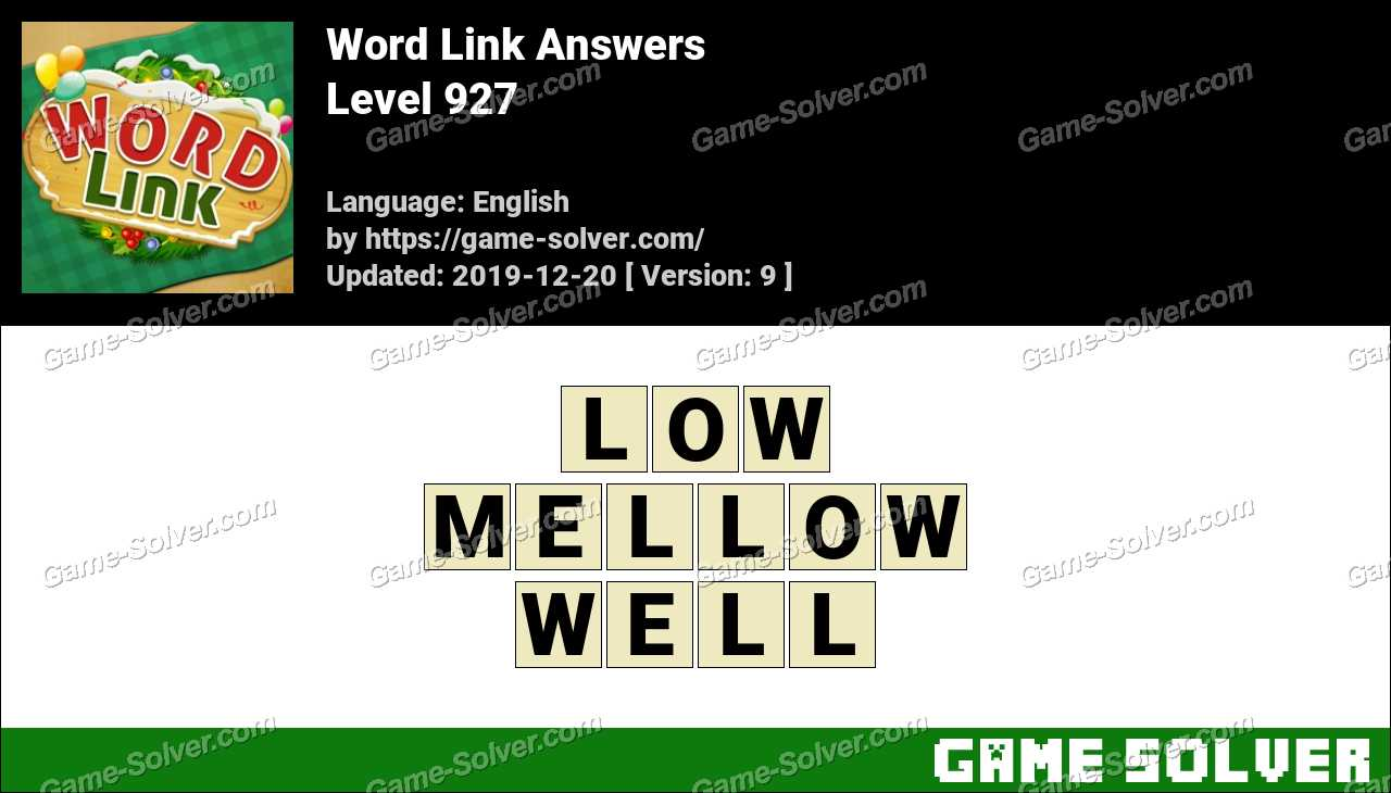 Word Link Level 927 Answers