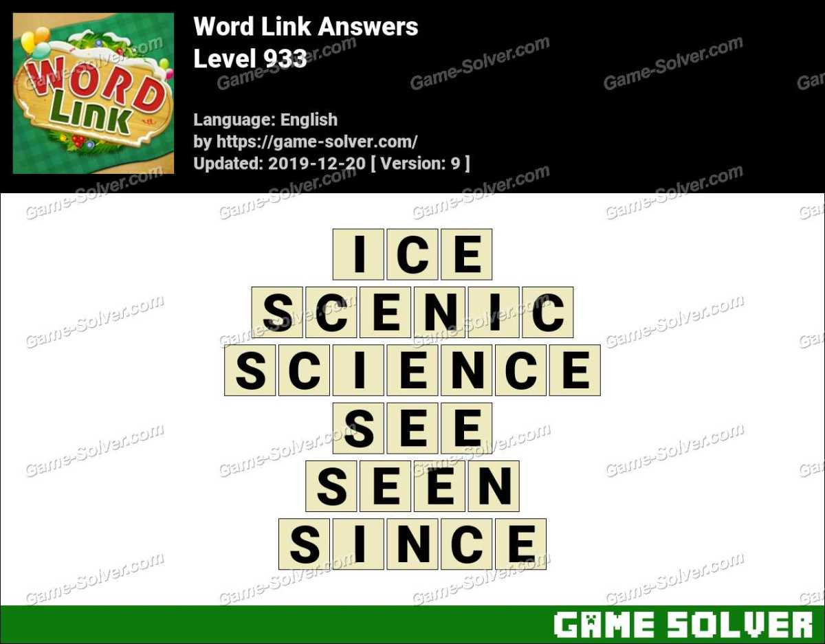 Word Link Level 933 Answers