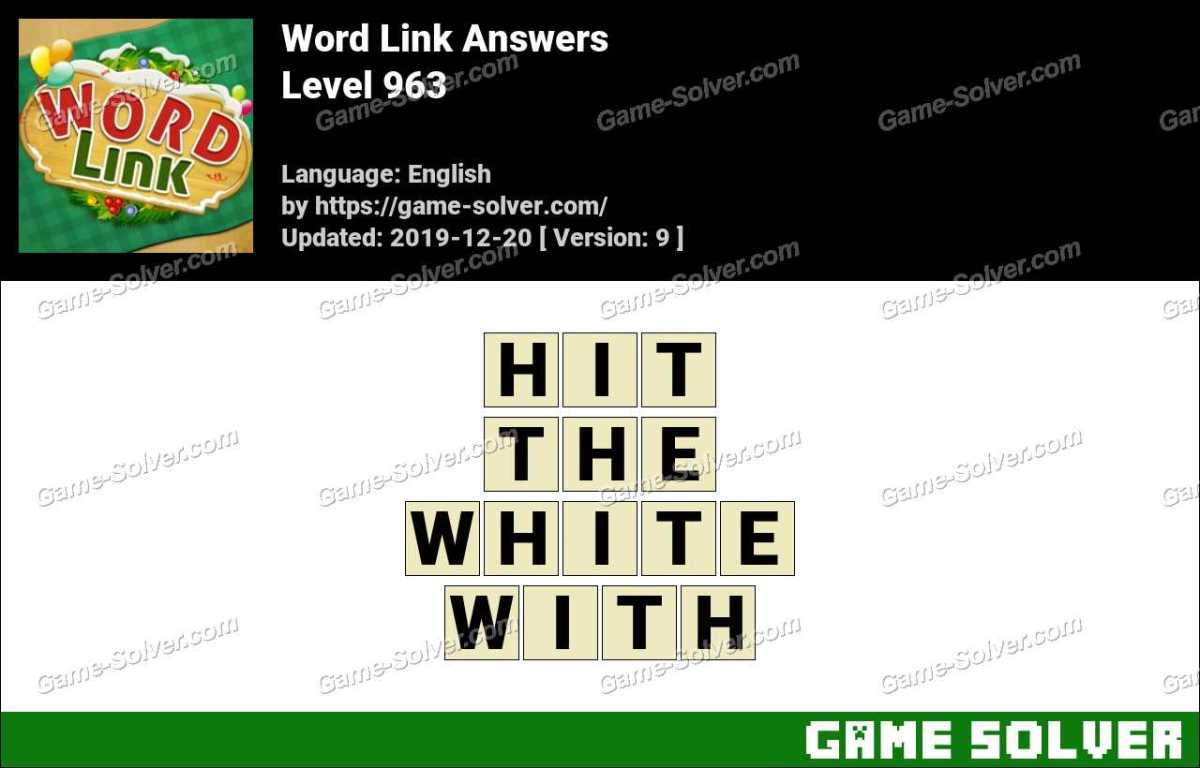 Word Link Level 963 Answers
