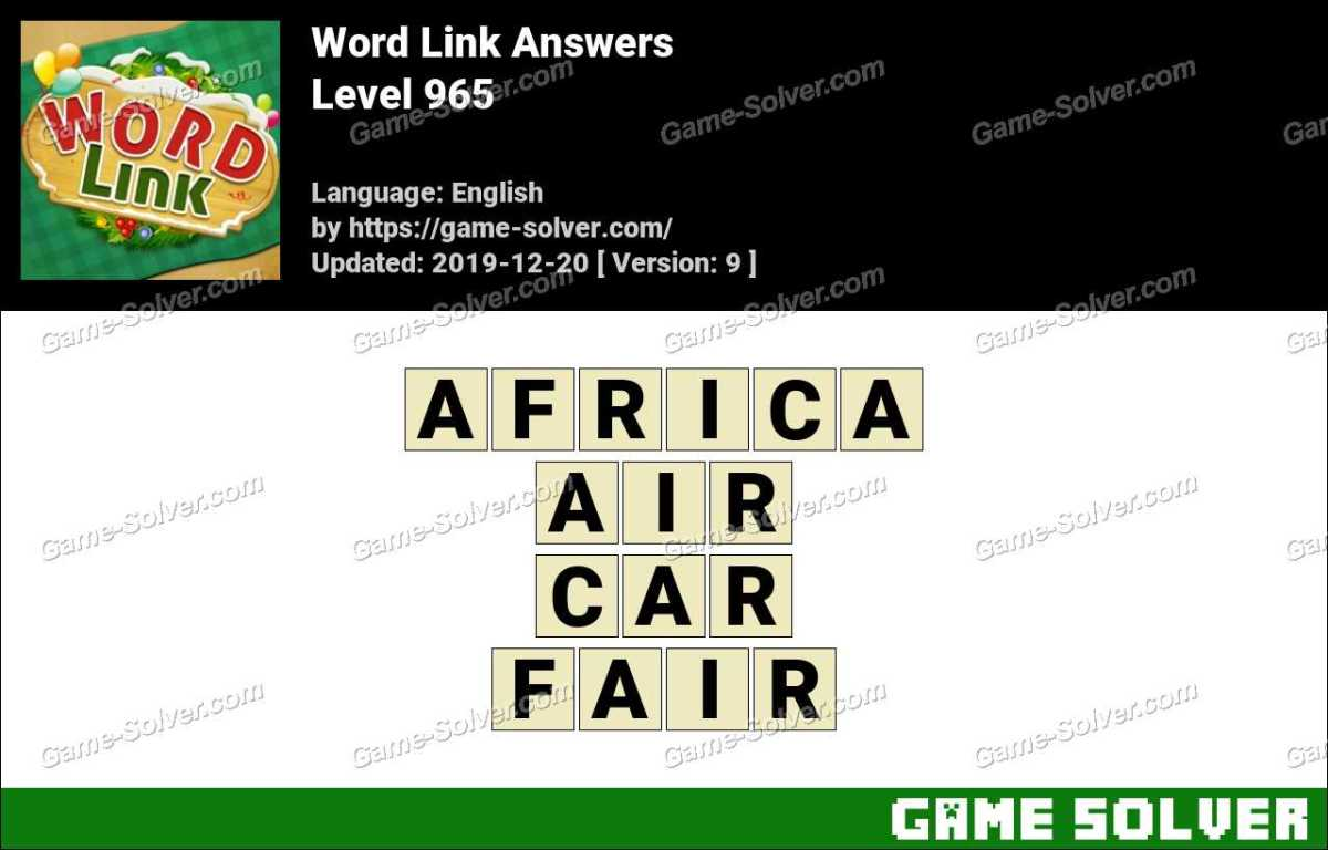 Word Link Level 965 Answers