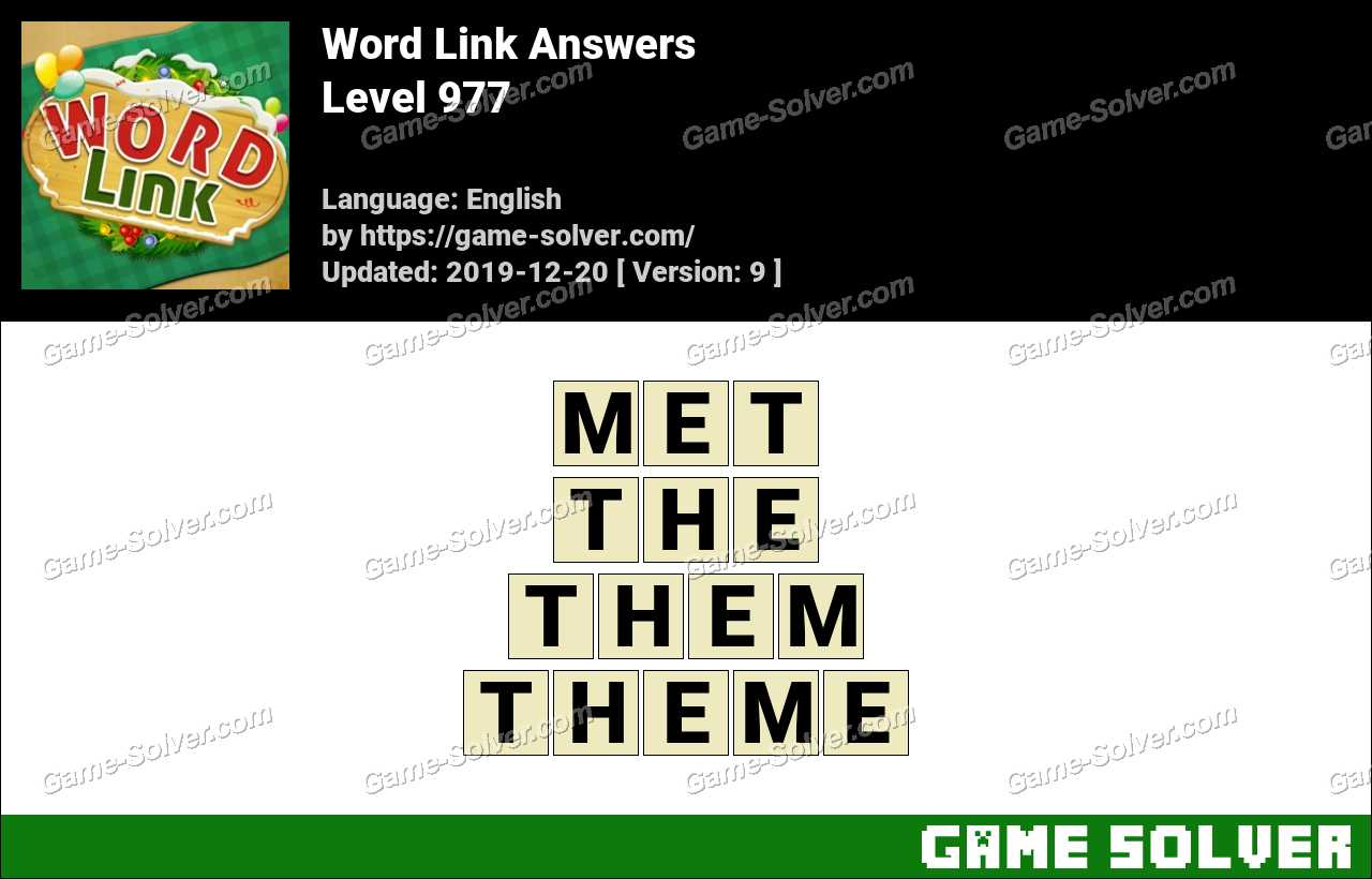 Word Link Level 977 Answers