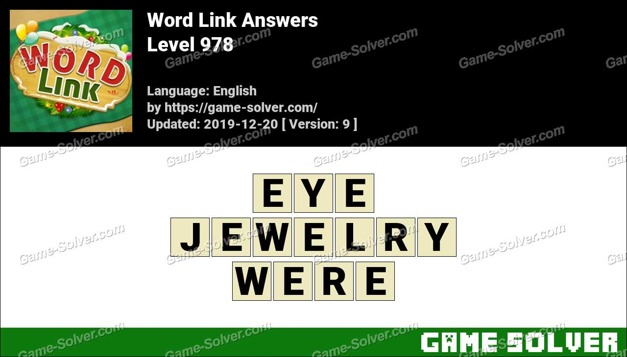Word Link Level 978 Answers