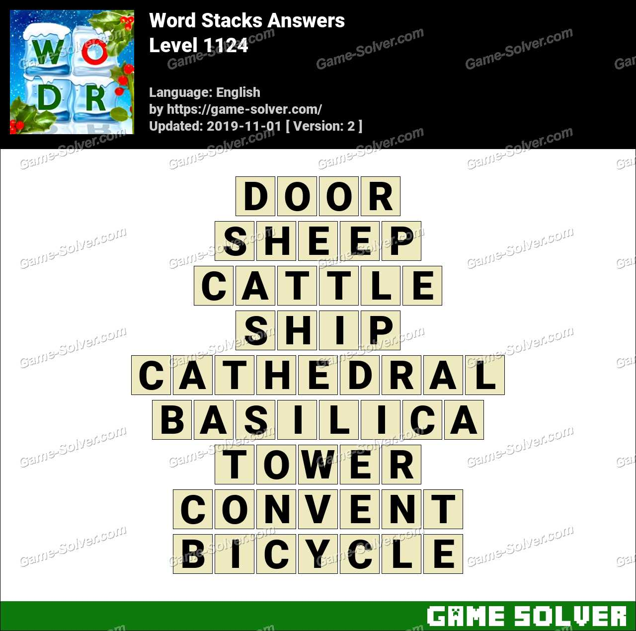 Word Stacks Level 1124 Answers