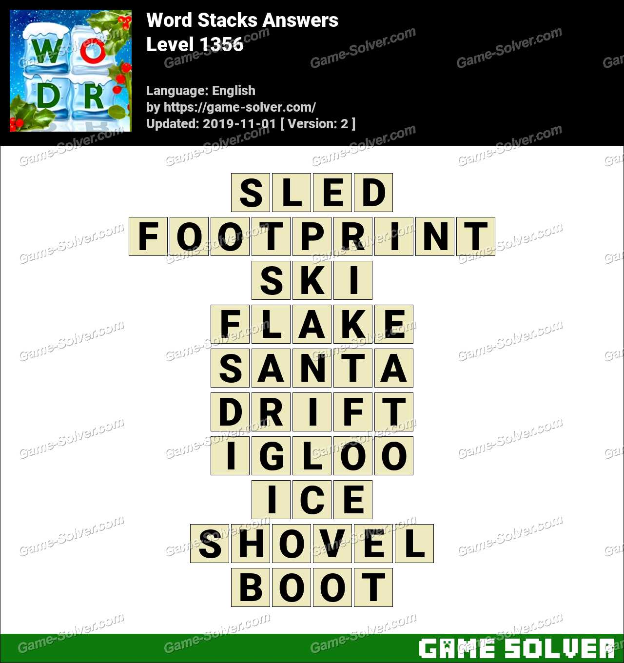 Word Stacks Level 1356 Answers
